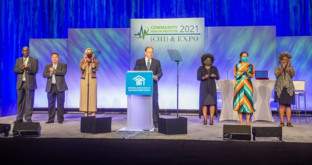 NACHC Board members on stage