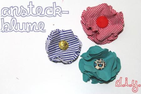 Ansteck-Blumen aus T-Shirts // DIY Upcycling Tutorial