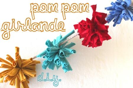 PomPom-Girlande aus T-Shirts // DIY Upcycling Tutorial