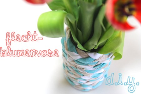 Flecht-Blumenvase aus T-Shirts // DIY Upcycling Tutorial