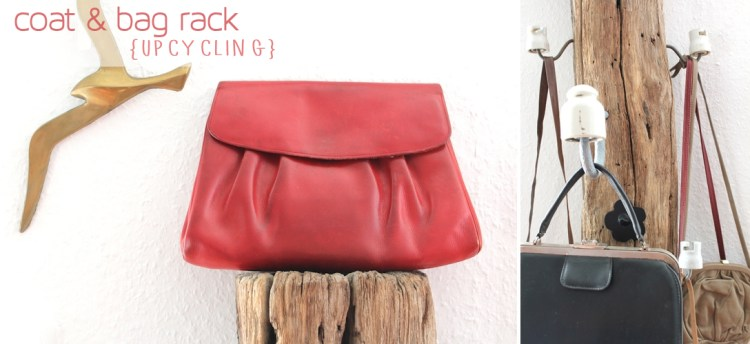 Tree Stump Coat and Rack Hangar {Upcycling} // Garderoben-Zaunpfahl für Taschen, Jacken & Co {Upcycling}