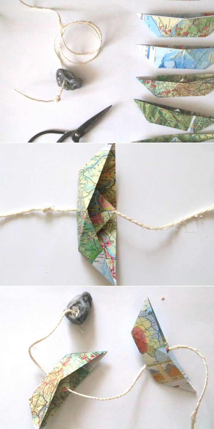 Paperboat Garland by naehmarie.de