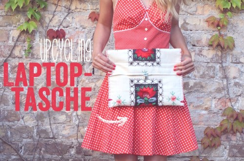 Upcycling Laptoptasche // upcycling laptop case