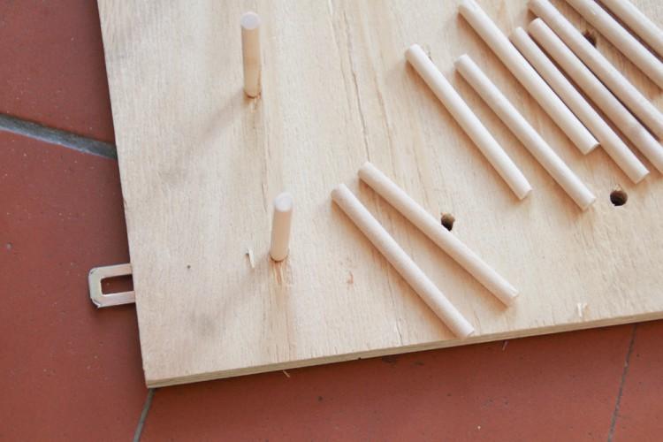 DIY Garnrollenhalter aus Sperrholz