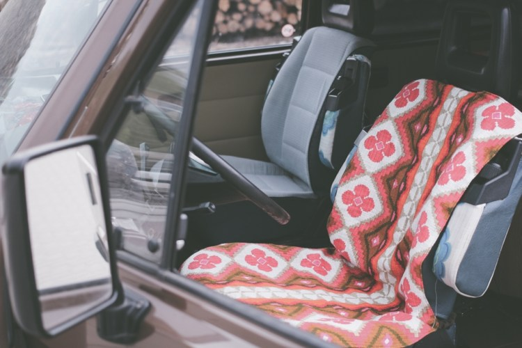 nähmarie.de - DIY Quick Car Seat Cover Made Of Cotton