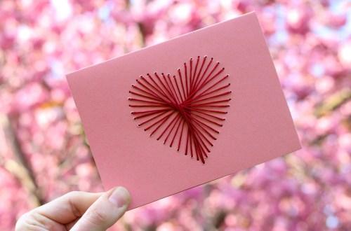 Von Herzen: Bestickte Muttertagskarte
