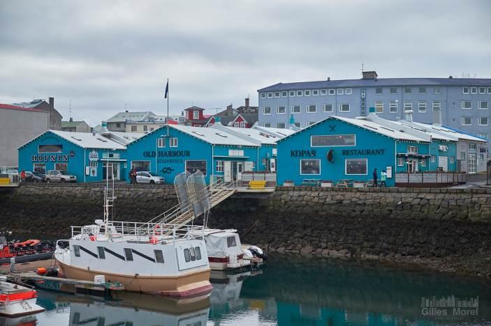 Zone des retaurants sur le port de Reykjavik