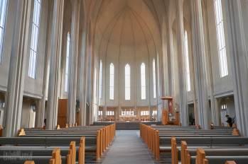 L'intérieur de Hallgrimskirkja