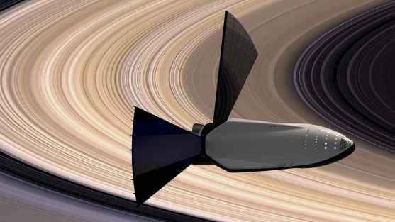 l'ITS longe les anneaux de Saturne