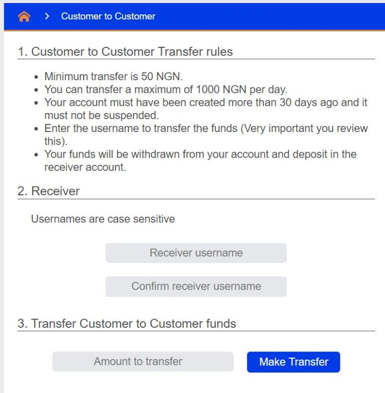 HOW TO TRANSFER MONEY FROM NAIRABET TO ANOTHER CUSTOMER ON NAIRABET