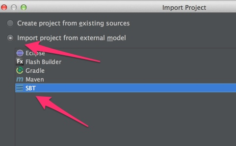 Import Project と Welcome to IntelliJ IDEA