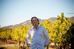 chief winemaker at nakedwines.com matt parish in a vineyard