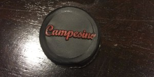 Campesino wine capsule seen from above