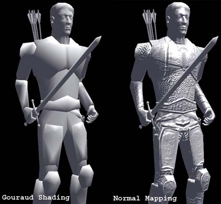 With and Without Normal Mapping