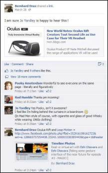 Oculus Rift VR - Conversation on Facebook