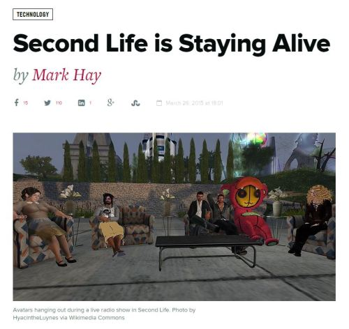 Second Life Staying Alive