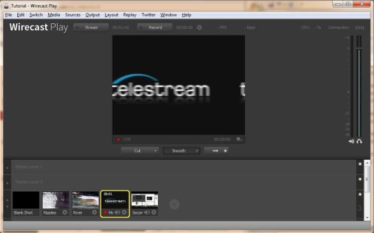 Wirecast - Opening Screen