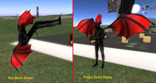 Non-Bento Viewer Distorting Bento Rigged Avatar