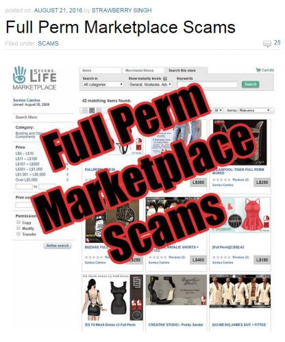 Marketplace Scams