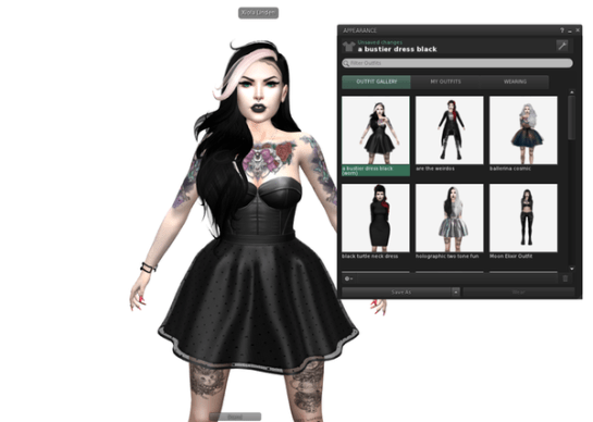Linden Lab's Visual Outfit Browser - Sept 2016