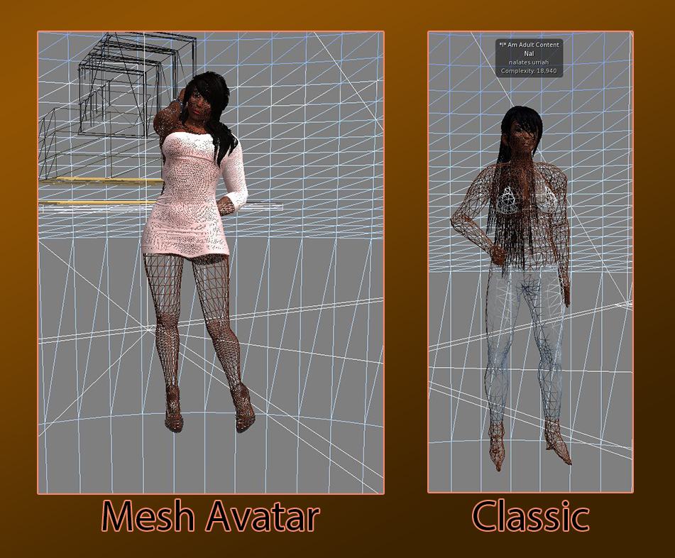 Second Life: Mesh vs Classic Bodies | Nalates' Things & StuffNalates