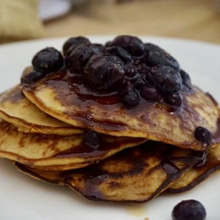 Guilt-Free Blueberry Banana Protein Pancakes