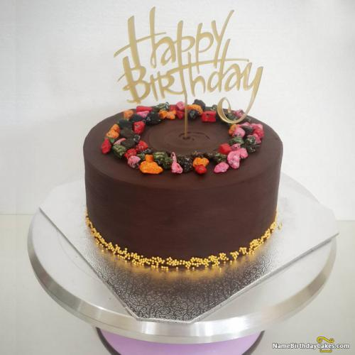 Delicious Chocolate Birthday Cake Decorations And Ideas
