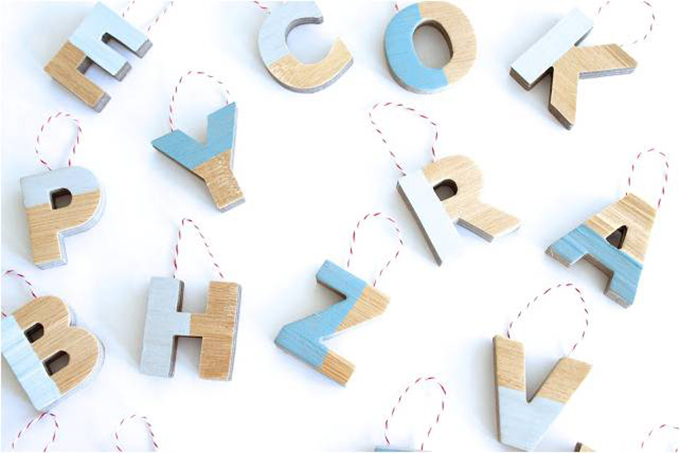 diy alphabet ornaments