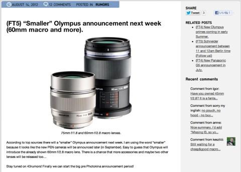 Next week 60mm macro