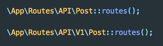 Routes for API