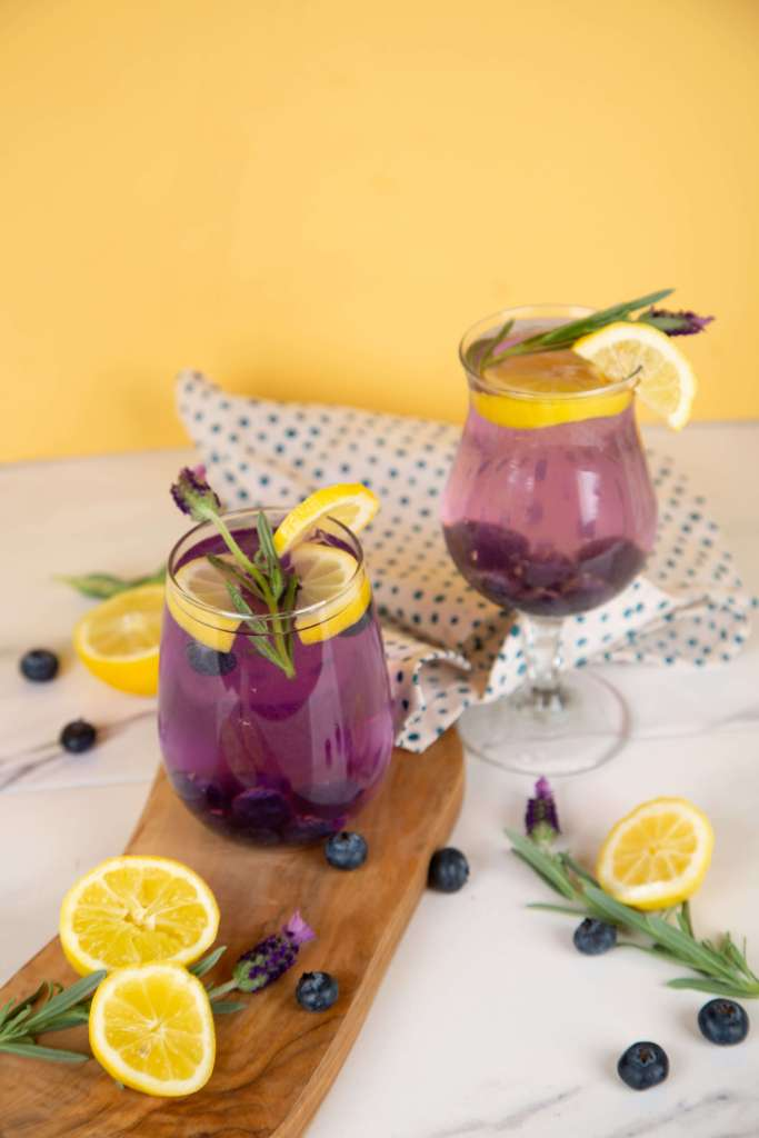 Blueberry Lavender Sparkling Lemonade