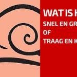 Klein en Traag Wint Dikwijls van Snel en Groot