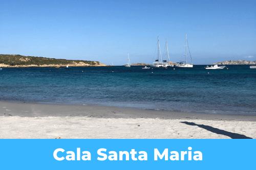 anchorage of Cala Santa Maria