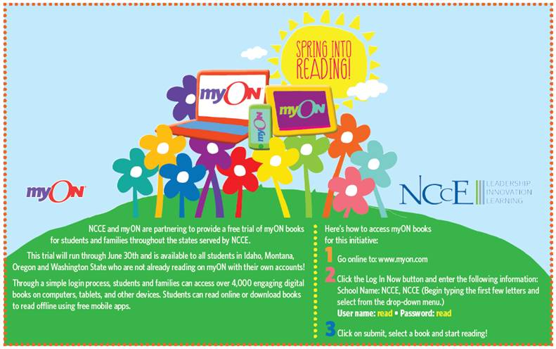 NCCE and MyOn books: Free through June!