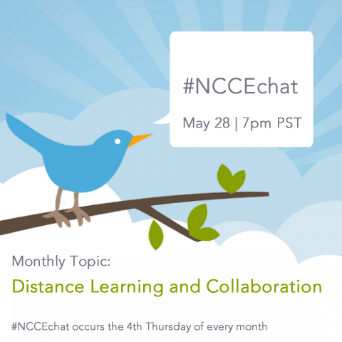 New #NCCEchat Day – Thursday May 28 at 7:00 pm PST