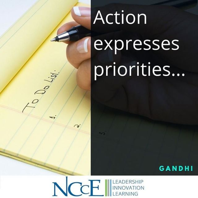 What steps are you taking today to express your priorities?hellip