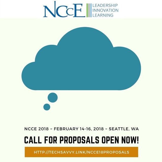 Share you vision and wisdom in Seattle! ncce18 nccechat iamnccehellip