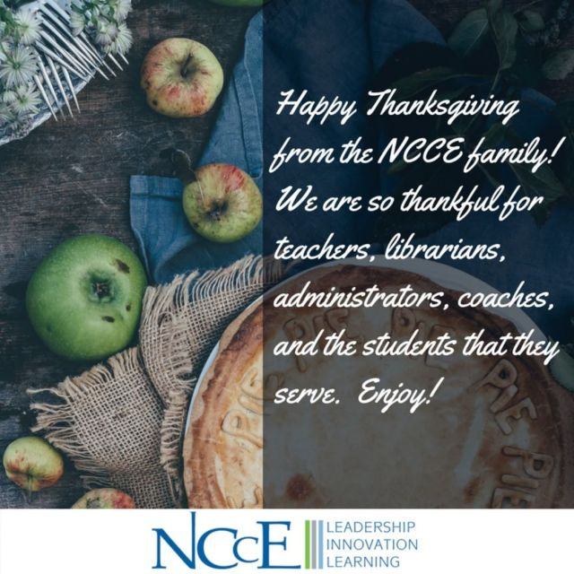 Happy Thanksgiving from the entire NCCE family to yours! iamnccehellip