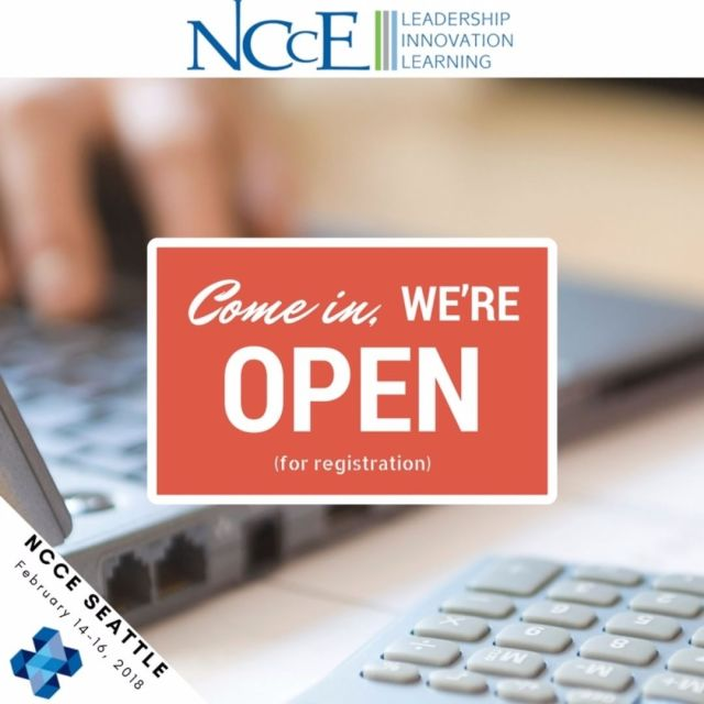 We are open for registration for NCCE 2018 in Seattle!hellip