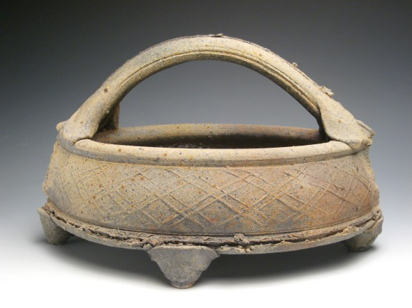 """Title: Basket Date 2008 Materials: Reduction cooled, wood fired stoneware Dimensions: 18"""" l, 10"""" w, 12"""" h Photo Credit: Danny Crump"""