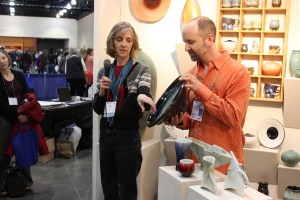 Susan Filley and Danny Meisinger at Spinning Earth Pottery