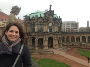 visiting the Zwinger with its grand porcelain collection by Augustus the Strong