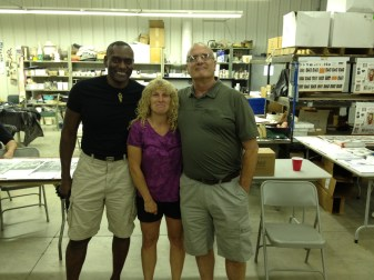Another absolute charmer is Standard Ceramics Patriarch, Jim Turnbull (right) appearing here with Standard's technical support guru, Julie Hregdovic, and Lincoln, NE, High School teacher, Willie Sapp