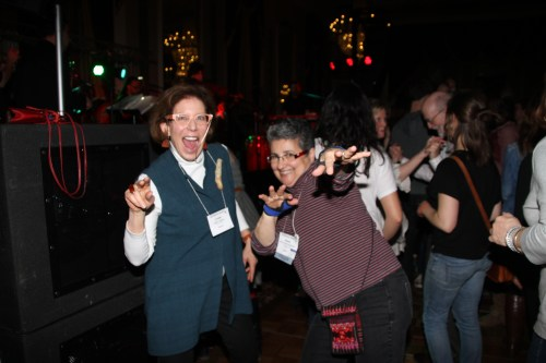 Linda Lighton and Anna Callouri-Holcombe know how to have a good time. Find them wherever the fun is!