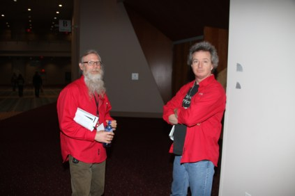 Two of our amazing techie A/V Crew guys - Robert Moore & Les Laidlaw