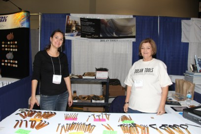 """!st & Second generation Dolans - Maureen and Bob started this little tool company over 20 years ago. The """"sweetheart of the Resource Hall,"""" Susan Dolan, who has been coming to NCECA since she was about 12. This year, she is bringing her husband, Joe. Next year, perhaps her kids will come and work the Dolan Tool booth with her!"""