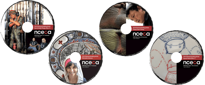 2014 Demonstrator DVDs and more NCECA Merchandise available at the conference!