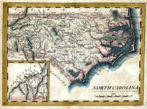 Carey's pocket atlas map of North Carolina: 1813-1820