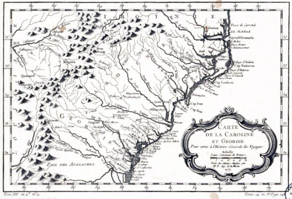 Bellin map - Carte de la Caroline et Georgie