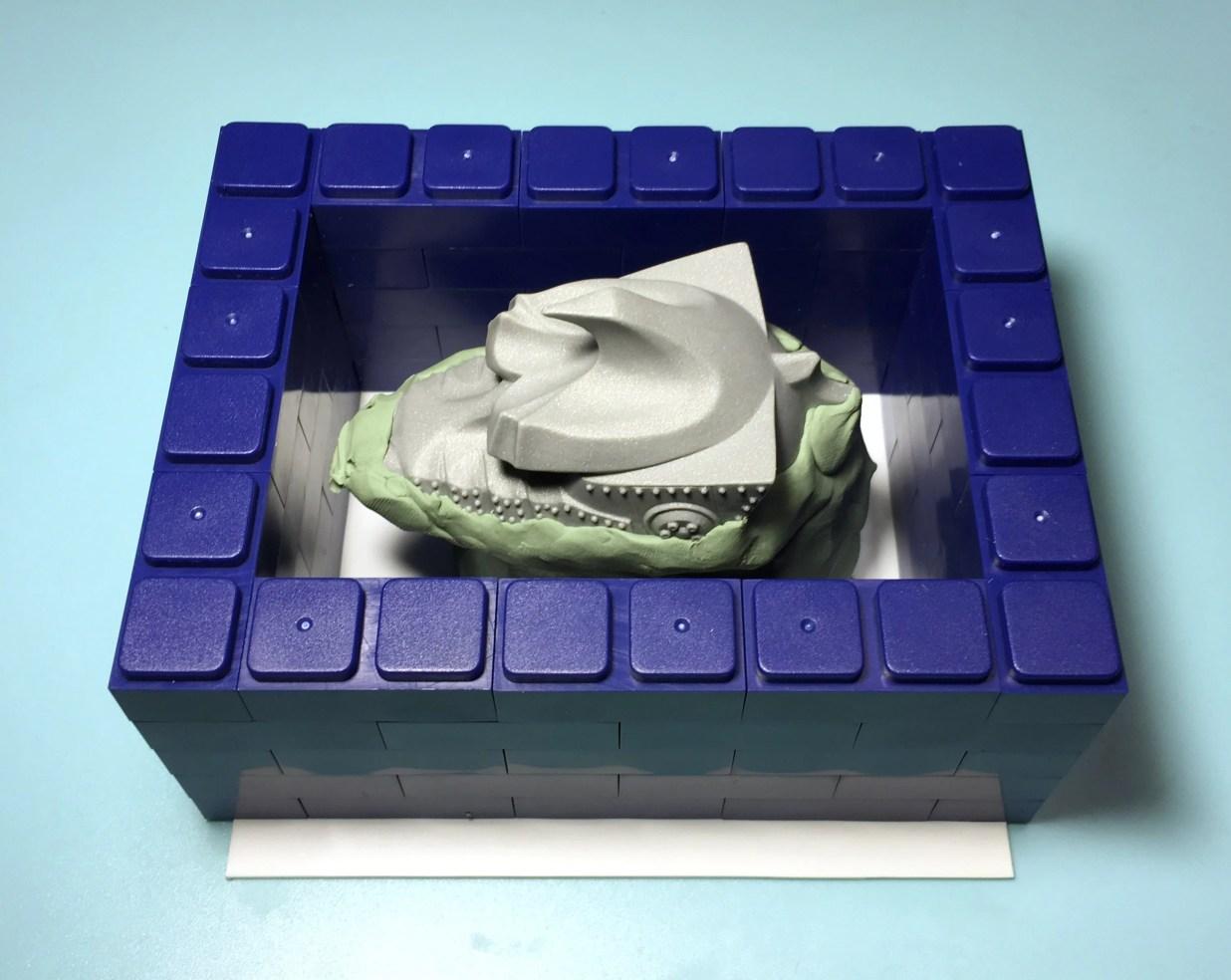 型取りブロックで枠を付ける